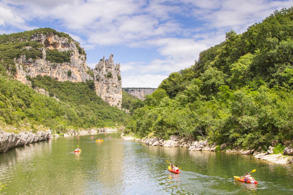 Canoès sur l'Ardèche